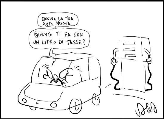 Vignetta sul caro-benzina